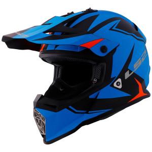 LS2 Fast V2 Twoface Helmet - Blue/Orange