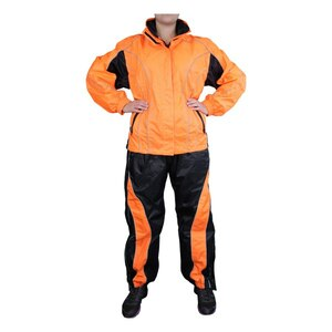 Jafrum Thunder Under RS5021 Women's Hi Visibility Orange and Yellow Motorcycle Rain Gear -Hi-Viz-Orange