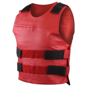 Mens Bullet Proof Style Premium Cowhide Leather Vest