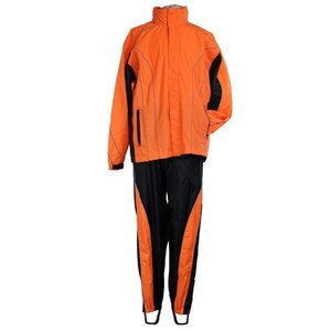 Jafrum Thunder Under RS5020 Men's Hi Visibility Orange and Yellow Motorcycle Rain Gear - Hi-Viz Orange