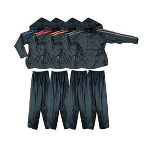 Two Piece Motorcycle Rain Gear with Hood