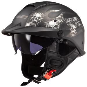 LS2 Rebellion Bones Half Helmet