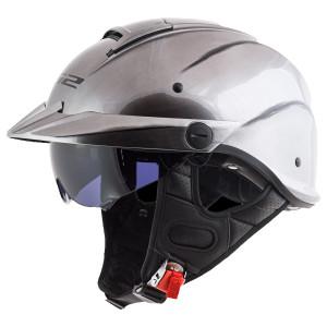 LS2 Rebellion Brushed Alloy Half Helmet