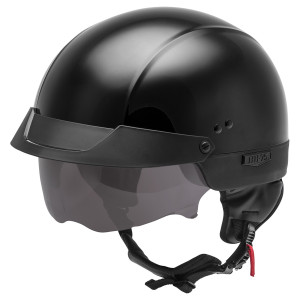 GMax HH 75 Half Helmet - Black
