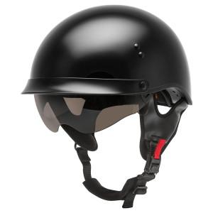GMax HH 65 Full Dressed Half Helmet Black