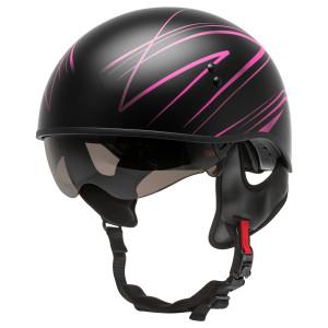 GMax HH 65 Torque Half Helmet - Black/Pink