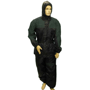 Mens RS30 Two Piece Motorcycle Rain Gear - Black