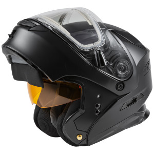 GMax MD-01S Snow Modular Helmet With Electric Shield - Open View