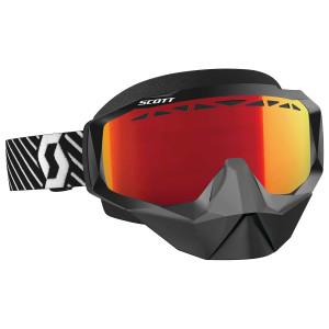 Scott Hustle Snow Cross Motorcycle Goggles - Black/White