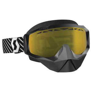 Scott Hustle X Snow Cross Motorcycle Goggles - Black/White