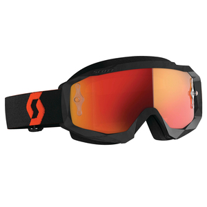 Scott Hustle X Motorcycle Goggles - Black/Orange