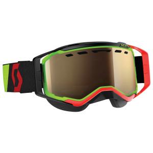 Scott Prospect Snow Cross Motorcycle Goggles With Bronze Chrome Lens