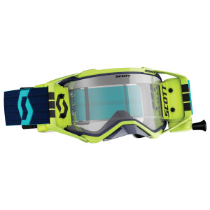 Scott Prospect WFS Motorcycle Goggles With Clear Lens - Blue/Yellow