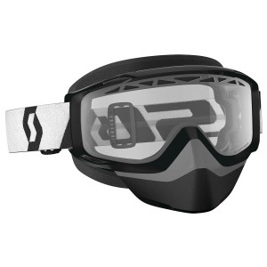 Scott Split OTG Snow Cross Motorcycle Goggles With Clear Lens