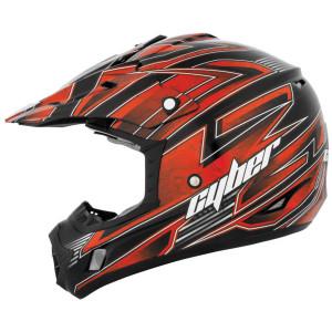 Cyber Youth UX-24 Bandit Helmet - Black/Orange