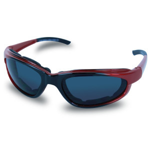 Mens SG106 Dark Smoke Biker Motorcycle Sunglasses Red