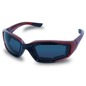 Mens SG107 Dark Smoke Biker Motorcycle Sunglasses Red