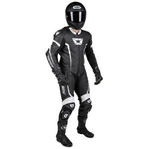 Cortech Adrenaline GP One-Piece Race Suit-Black/White