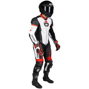 Cortech Apex V1 One-Piece Race Suit-White/Red