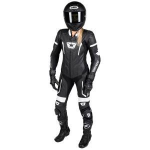 Cortech Women's Apex V1 One-Piece Motorcycle Race Suit-Black/White