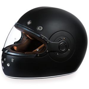 Daytona Retro Dull Black Helmet