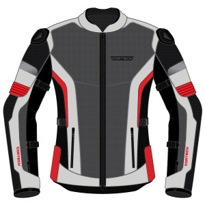 Cortech Women's Hyper-Flo Air Motorcycle Jacket-Red