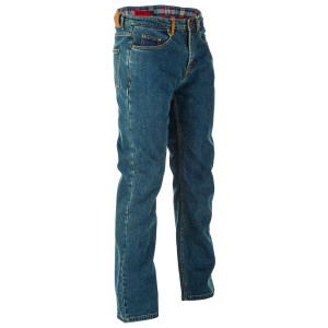 Highway 21 Blockhouse Mens Motorcycle Riding Jeans - Blue