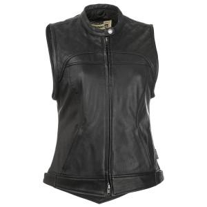Highway 21 Women's Ava Leather Motorcycle Vest