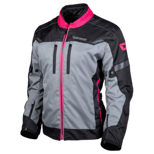 Cortech Women's Aero-Tec Motorcycle Jacket-Black/Pink