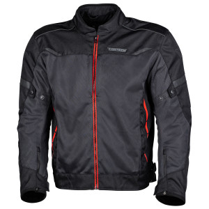 Cortech Aero-Flo Air Motorcycle Jacket-Black/Red