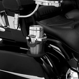 Kuryakyn Passenger Drink Holder With Basket for Gold Wing 1800