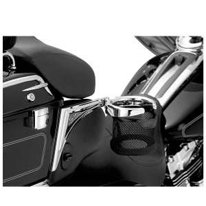 Kuryakyn Passenger Drink Holder With Right Side Basket for V-Twin