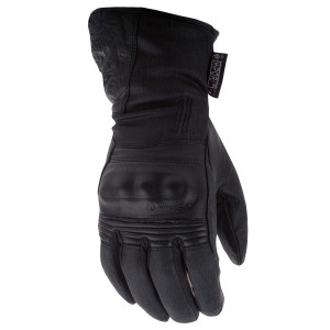 Highway 21 Women's Black Rose Cold Weather Motorcycle Gloves