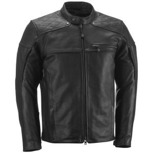 Highway 21 Gasser Leather Motorcycle Jacket - Black