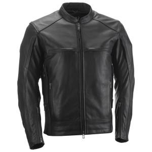 Highway 21 Gunner Leather Motorcycle Jacket - Black