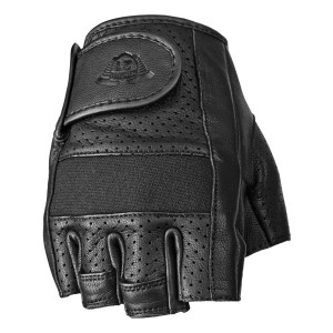 Highway 21 Half Jab Perforated Leather Motorcycle Gloves