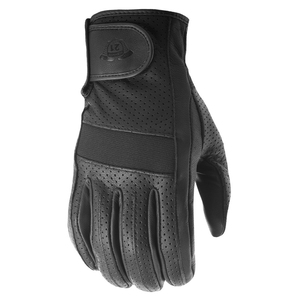 Highway 21 Jab Perforated Touch Screen Leather Motorcycle Gloves