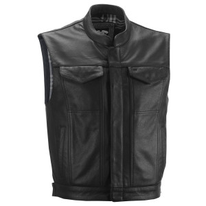 Highway 21 Magnum Leather Motorcycle Vest