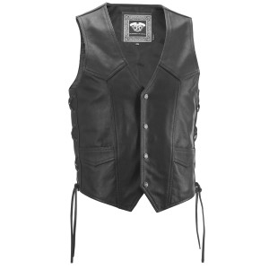 Highway 21 Six Shooter Leather Motorcycle Vest