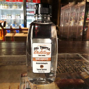 Full Throttle Distillery 80% Alcohol Antiseptic Liquid Hand Sanitizer - 12oz