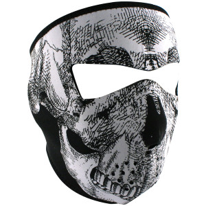 Zan Headgear Neoprene Reversible Face Mask with Skull
