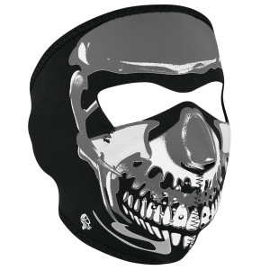 Zan Headgear Chrome Skull Face Mask