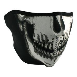 Zan Headgear Neoprene Reversible Skull Half Face Mask