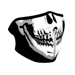 Zan Headgear Neoprene Glow in the Dark Skull Half Face Mask
