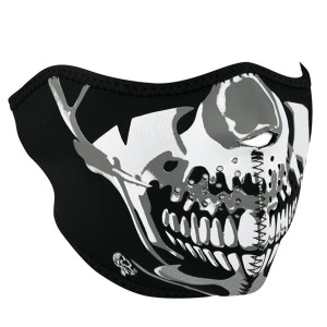 Zan Headgear Chrome Skull Half Face Mask