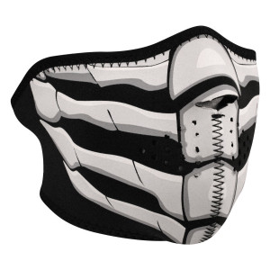 Zan Headgear Bone Breath Neoprene Half Face Mask Glow in the Dark