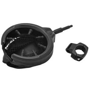 "Kuryakyn Universal Drink Holder With Mesh Basket For 1"" Handlebars"
