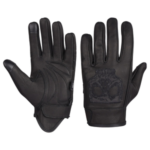 Vance VL475SK Mens Gel Palm Riding Gloves With Skull