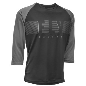 Fly Ripa 3/4 Sleeve Jersey - Black