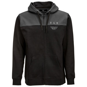 Fly Horizontal Zip Up Hoodie - Charcoal